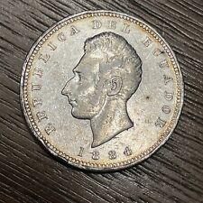 1884 Ecuador Silver 1 Sucre, Heaton Birmingham
