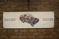 range rover   CLASSIC red pvc large WORK SHOP BANNER garage car show banner