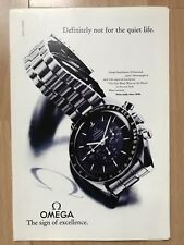 Omega Speedmaster Moon 1992 Advertisement Pub Ad Werbung