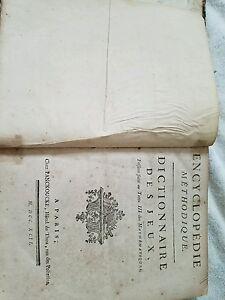 Dictionarie des Jeux 1792