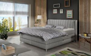 Box Spring Bed Hotel Complete Designerbett Double Luxusbett Grey Marino