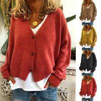 Autumn Fashion Women's Long Sleeve Sweater Knitwear Cardigan Loose Knitted Coat