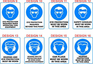 Mandatory Safety Signs, Stickers / Corflute / Metal.  OHS work Signage