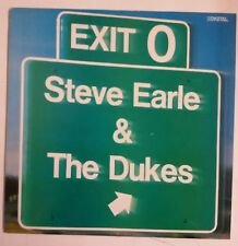 Steve Earle Exit 0 LP UK 1987