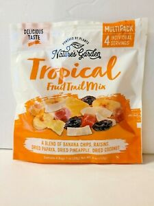 Nature's Garden Tropical Fruit Trail  Mix 2 Bags (8 Individual Servings) NEW