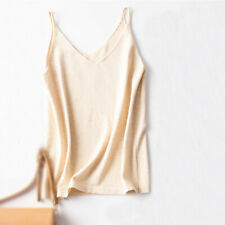 Women Summer Cashmere Camisole Tank Camis Knit Sleeveless Tops Loose Solid Vest