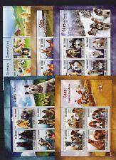 5x Sao Tome  - Dogs on postage stamps - MNH** АК