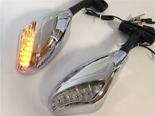 Motorcycle Turn Signal Led Lights Mirrors For CBF1000 2010 2011 Chrome