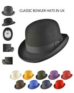 Women's Bowler Hat Wool Felt Supreme Quality with Many Colours-iHATS London UK