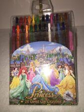 Disney Parks Princess Twist Up Crayons Set 24 NEW Sealed