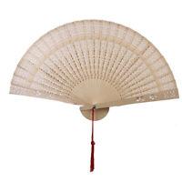 Retro japanische Sandelholz faltbare Hand Fan Holz Hochzeitsfeier Dekor