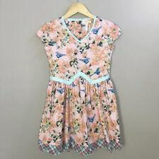 Matilda Jane Friends Forever Sienna Dress 10 Nwt Pink Floral Blue Bird Spring