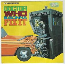 DOCTOR WHO IS GONNA FIX IT-VERY RARE 1983 45 WITH ORIGINAL SLEEVE-TOM BAKER-VG+