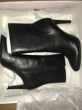 Nine West Yagel Black Leather Women's Boots Size 6 M