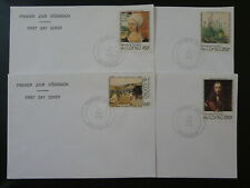 paintings Albrecht Durer set of 4 FDC Congo 89155