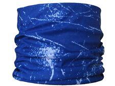 Gaitor azul Splat, esquí Redecilla Máscara Esquí Bufanda de cuello blanco Biker hacer snowboard Sombrero