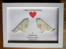 Personalised 1st Wedding Anniversary Gift Frame Paper