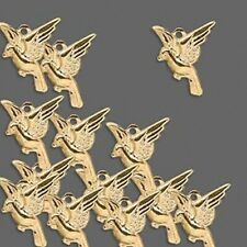 Lot of (100) Gold Plated Brass 13x11mm Bird Charms - Drop Beads