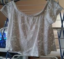 River Island size 12 lacey cream crop top
