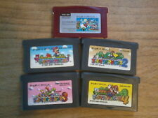 Lot SUPER MARIO ADVANCE 1 2 3 4 + BROS. -- GAME BOY ADVANCE GBA - Japan Nintendo