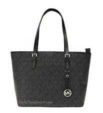 New Michael Kors Jet Set Travel Signature Top Zipper Closure Tote Bag Handbags