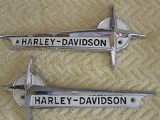 Harley 1961-1962 FL & FLH Gas Tank Emblems oem 61776-61T ..W/  MOUNTING & Screws