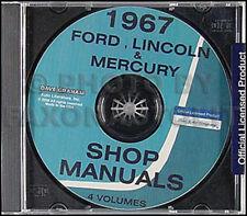 1967 Mercury Manuale di Negozio CD Monterey Montclair Parklane Marquis Marauder