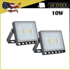 2x 10W LED Flood Light Warm White Outdoor Spotlight Garden Yard Lamp IP67 New