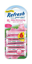 Refresh Auto Vent Stick Car & Home AC Air Freshener, Pink Petals Scent -6 Sticks