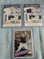 SAM HILLIARD 2020 Absolute Rookie Threads ×2 + TOPPS SILVER PACK RC ROCKIES