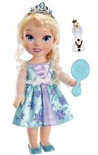 "Princess Elsa Frozen Toddler 14"" Doll Plus Olaf Snowman Friend, Disney, 3+Years"