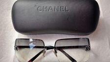 e4415023f3 CHANEL Black Clear Sunglasses for Women