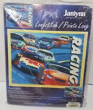 Janlynn Car Racing Longstitch Needlepoint Kit #013-0327 Racing / Courses New!!