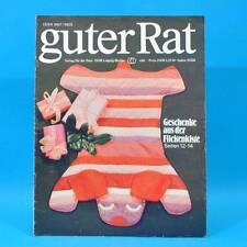 Guter Rat 4-1981 Verlag für die Frau DDR Ente Schulranzen Restalkohol Flicken G