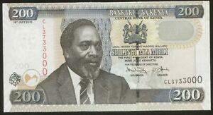 Kenya 200 Shillings 2010 Pick 49e UNC #3733000