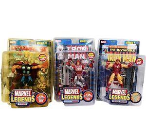 Marvel Legends Action Figure Set Of 3 ToyBiz 2002 Ironman Thor Rare Toy Sale NEW