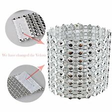 Napkin Rings 100 Pcs Rhinestone Diamond Silver