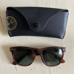 vintage Ray-Ban Wayfarer II Sunglasses w/ case AS-IS made in USA Bausch + Lomb