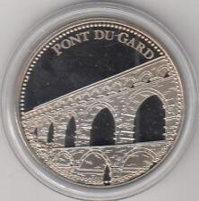 Médaille contemporaine Française Trésor de patrimoine Pont Du Gard