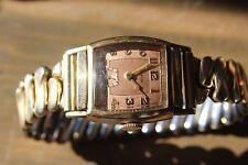 Antique Womens Clinton Wrist Watch NEEDS SERVICE Gold Filled