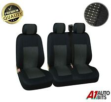 2+1 Black Premium Fabric Seat Covers For Renault Master Trafic New