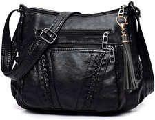 Crossbody Bags For Women Pocketbooks Soft PU Leather Purses and Handbags Multi P