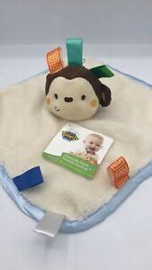 Taggies Baby Girl - Boy Security Blanket  12 x12 Monkey - Owl
