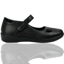 Goody2Shoes Girls Black matt School Shoes with Cat Design Free P&P RRP £18