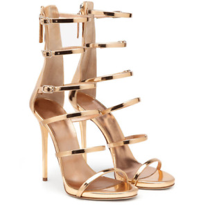 Sexy Women's Patent Leather Peep Toe Ankle Strap Slim High Heels Party Sandals
