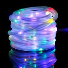 NEW ROPE SOLAR LIGHTS 100 LED MULTI COLOURED LIGHTS GARDEN DÉCOR WATERPROOF