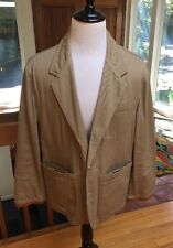 Willis and Geiger Safari Lodge Jacket Vintage 1990s Mens M Cotton with Leather