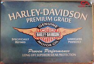 HARLEY Vintage Tin Bar Sign, Motorcycle Sign, Great for man cave or bar HDMO
