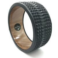 Trigger Point Massage Yoga Wheel - Wood & Black by MyYogaWheels Muscle Back Pain