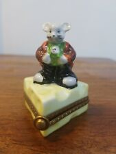 Limoges Mouse and Cheese, France, Trinket Box.